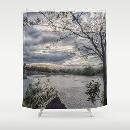 Halibut Point Quarry Landscape Shower Curtain