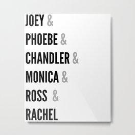 Friends names Metal Print