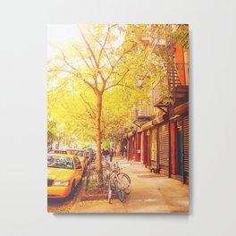 Autumn - East Village - New York City Metal Print