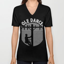 Pole Dancer Lineman T-Shirt Unisex V-Neck