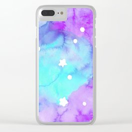 Starry Night Sweet Dreams Clear iPhone Case