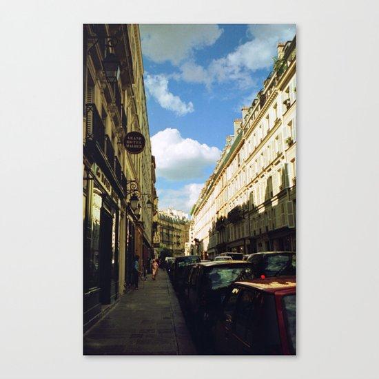 Paris in 35mm Film: Rue Malher in Le Marais Canvas Print