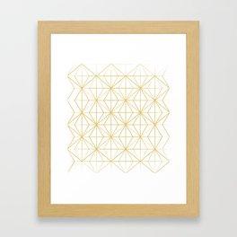 Geometric Golden Pattern Framed Art Print
