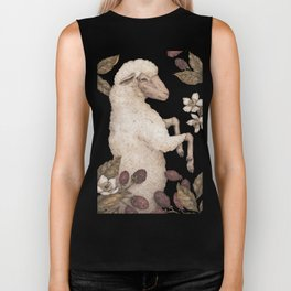 The Sheep and Blackberries Biker Tank