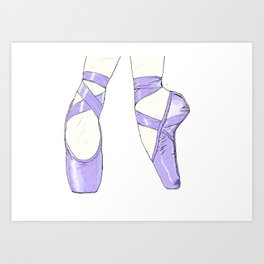 Ballet Pumps: Purple Art Print