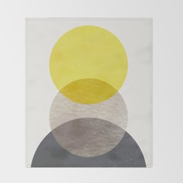 SUN MOON EARTH Throw Blanket