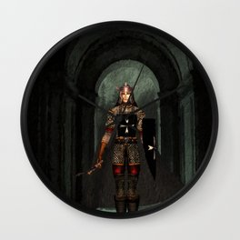 Knight of Old Wall Clock
