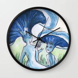 Empire of Mushrooms: Lactarius indigo Wall Clock