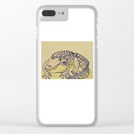 Grumpy Gator Clear iPhone Case