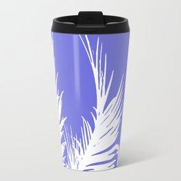 Palm Leaves V Purple & white Travel Mug
