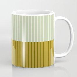 Color Block Lines XXI Moss Coffee Mug