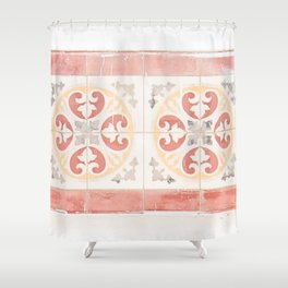 Zellige Tiles of Morocco Shower Curtain
