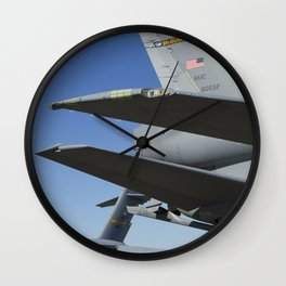 KC10 KC-10 Military Refueling Airplane And C17 C-17 Globemaster Cargo Aircraft USAF Wall Clock