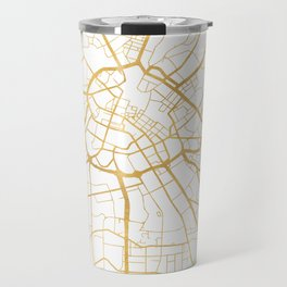 MANCHESTER ENGLAND CITY STREET MAP ART Travel Mug