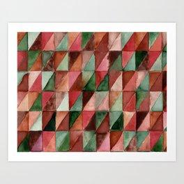 one.purple.triangle Art Print
