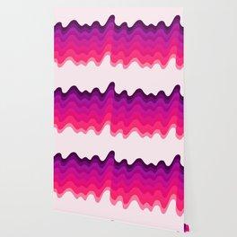 Retro Ripple in Pinks Wallpaper