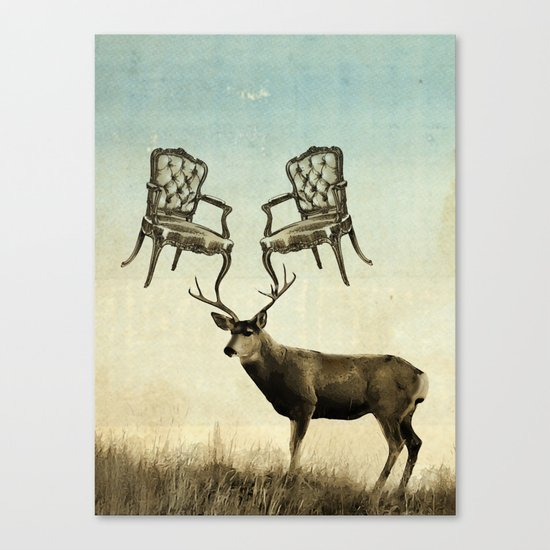 louis xv stag chairs Canvas Print