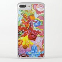 All of the Beautiful Flowers Clear iPhone Case
