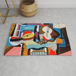 Pablo Picasso, Mandolin and Guitar (Mandoline et guitare) 1924 Artwork Rug