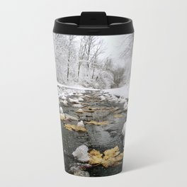 Snowy Path Metal Travel Mug