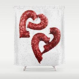 Broken Heart Mosaic Shower Curtain