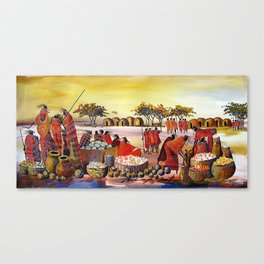 A painting of Barter Trade Canvas Print