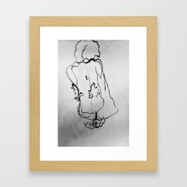 Seated Woman Framed Art Print