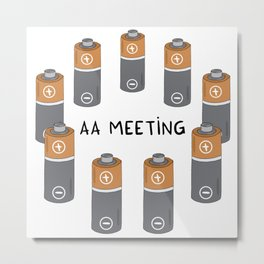 AA meeting Metal Print