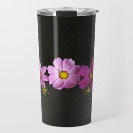 Cosmos on Black Travel Mug