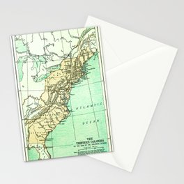 Vintage American Colonies Map - 1775 Stationery Cards