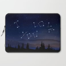 I love You Stars Design Laptop Sleeve