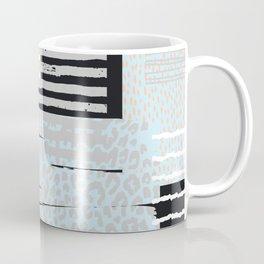 Modern abstract overlapping geometric shapes pattern Coffee Mug