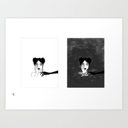 Bordy Diptych Art Print