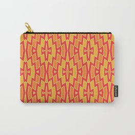 Tribal Diamond Pattern in Red, Orange and Yellow Carry-All Pouch