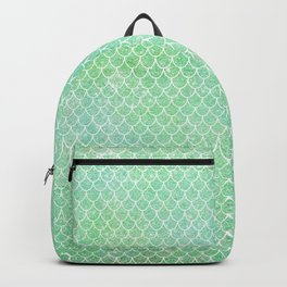 Glitter Mermaid Tail Pattern Backpack