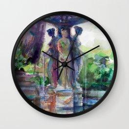 Three Graces Fountain Wall Clock