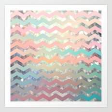 New World Chevron Pastel Art Print