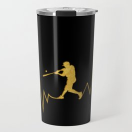Baseball Heartbeat design Cool Gift for Sport Lovers Travel Mug