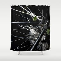 metal gear Shower Curtains featuring Gear by MadeByJenni