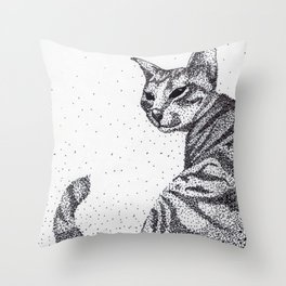Tazzy Cat Throw Pillow