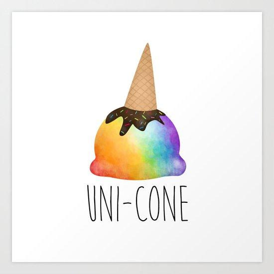 Uni-cone Art Print