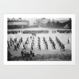 ROTC Field Band Art Print