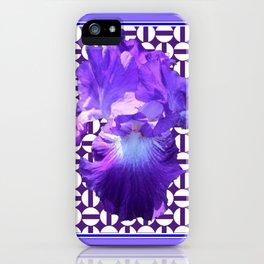 Decorative  purple Iris Optical Pattern Art iPhone Case