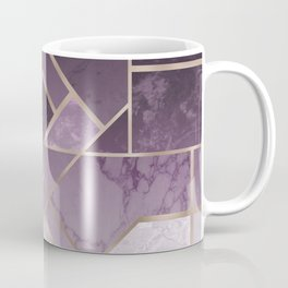 Purple geometric marble pattern Coffee Mug