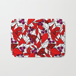 Retro . Bright colorful pattern . Bath Mat