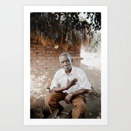 Grandfather of Mfuwe Art Print