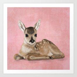 Small fawn Art Print