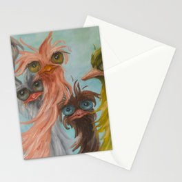 Group of 8 on Blue Stationery Cards
