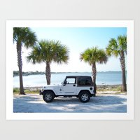 jeep Art Prints featuring Jeep by Caleb Blank Photography