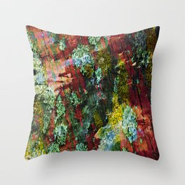 texture paint peeling weathered Throw Pillow